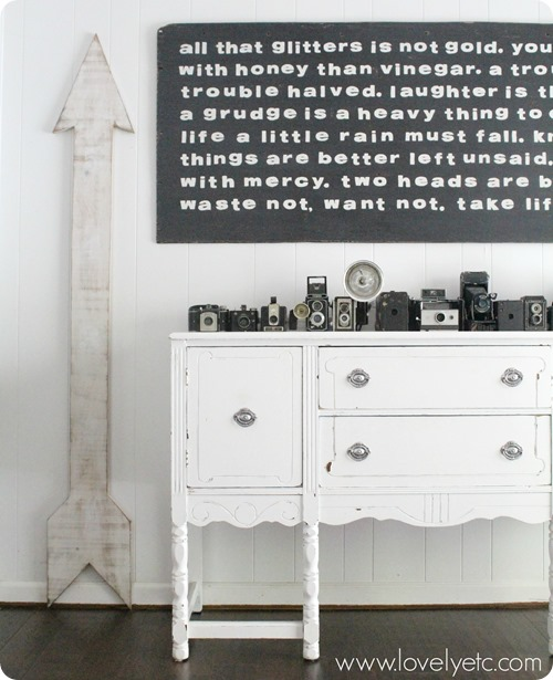 giant wooden arrow growth chart