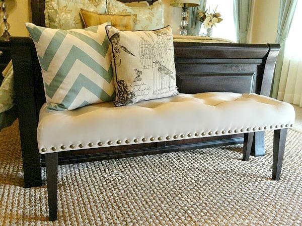 DIY Drop Cloth Bench