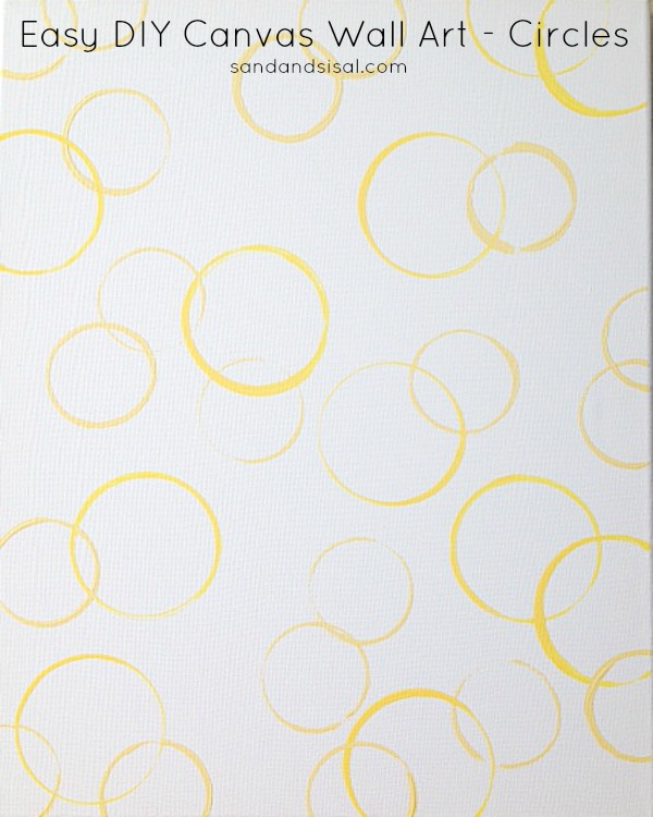 Easy DIY Canvas Wall Art - Circles