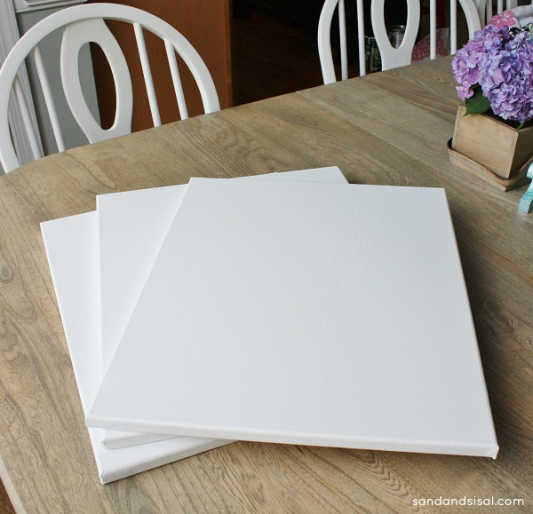 Easy DIY Wall Art - blank canvases