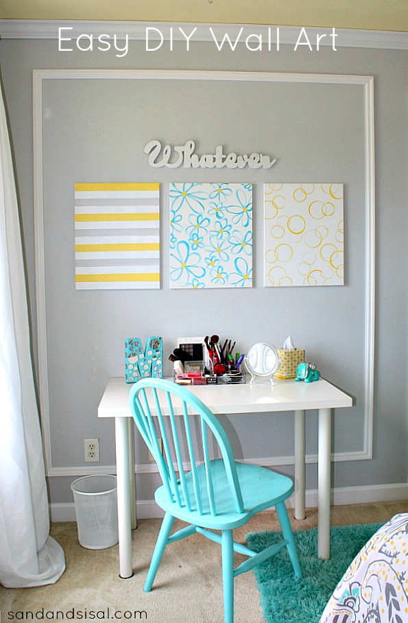 Easy DIY Wall Art & Easy DIY Canvas Wall Art - Sand and Sisal