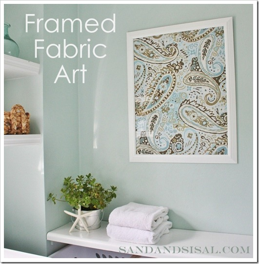 Easy diy canvas wall art sand and sisal for Fabric wall art