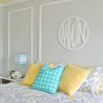 Gray + Yellow + Turquoise Teen Bedroom
