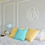 Gray + Yellow + Turquoise Teen Bedroom