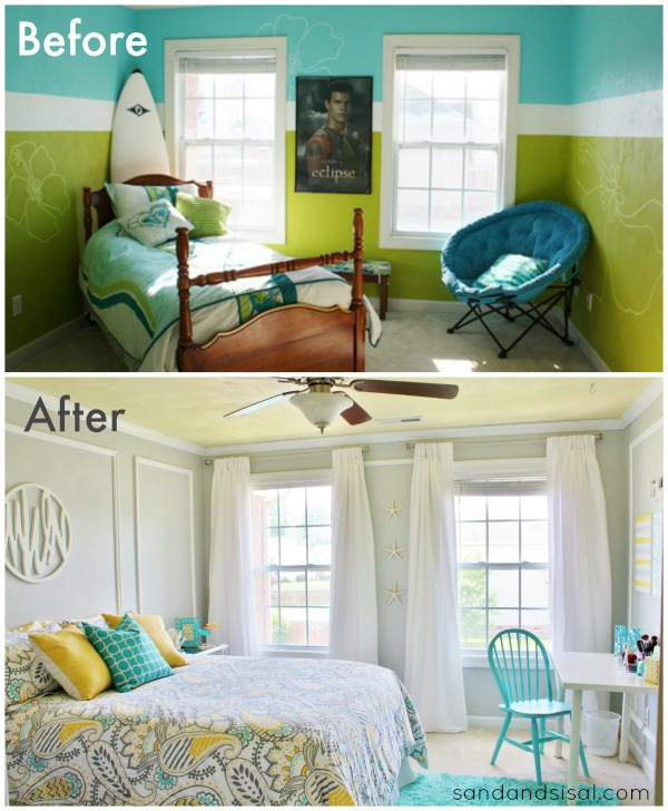 Teen room makeover before and after