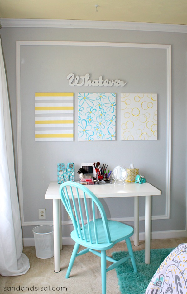 Teen Room Makeover - DIY Wall Art #HelloBeautiful