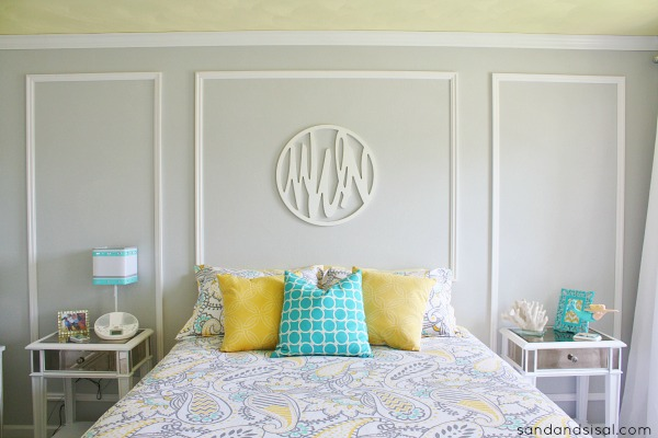 Teen Room Makeover - Gray + Yellow + Turquoise #HelloBeautiful