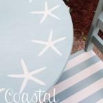 Coastal Kids Table Makeover