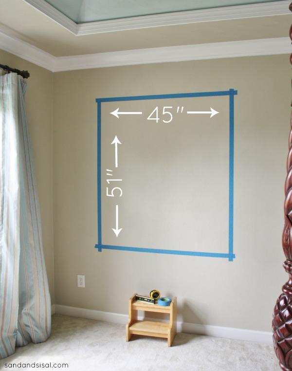 Color Block Gallery Wall - Step 1 #HomeofScotchBlue #3MPartner