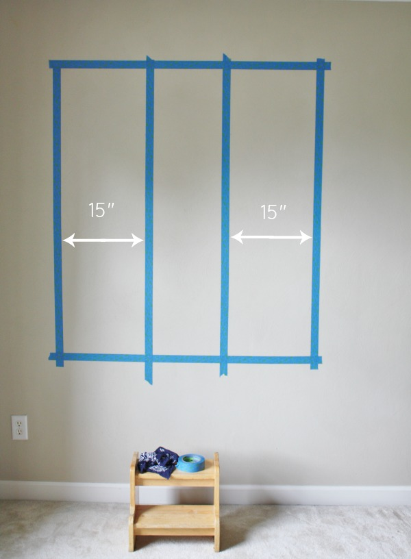 Color Block Gallery Wall Step 2