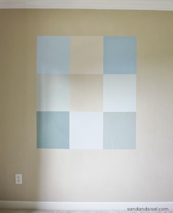 Color Block Gallery Wall Step 5 #HomeofScotchBlue #3MPartner