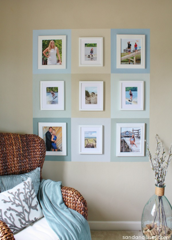 Color Block Gallery Wall #HomeofScotchBlue #3MPartner