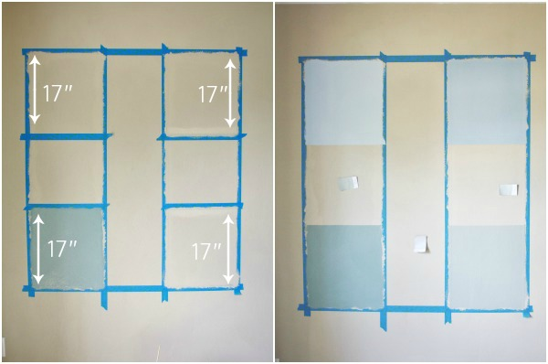 Color Block Wall Gallery Step 3 #HomeofScotchBlue AND #3MPartner