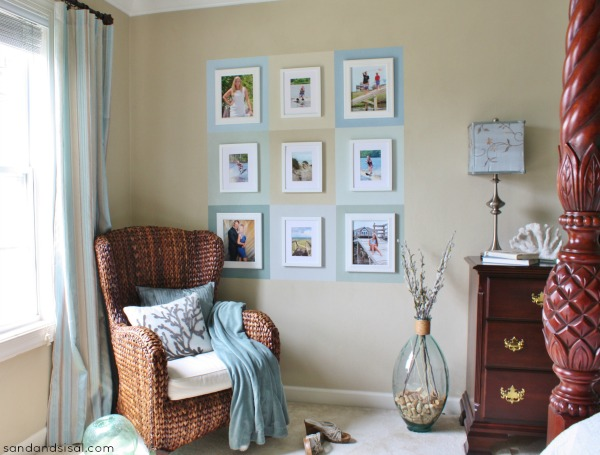 Color Block Wall Gallery #HomeofScotchBlue#3MPartner