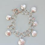 DIY Silver Leaf Shell Bracelet