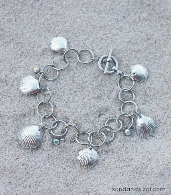 DIY Silver Leaf Shell Bracelet - How to gild seashells
