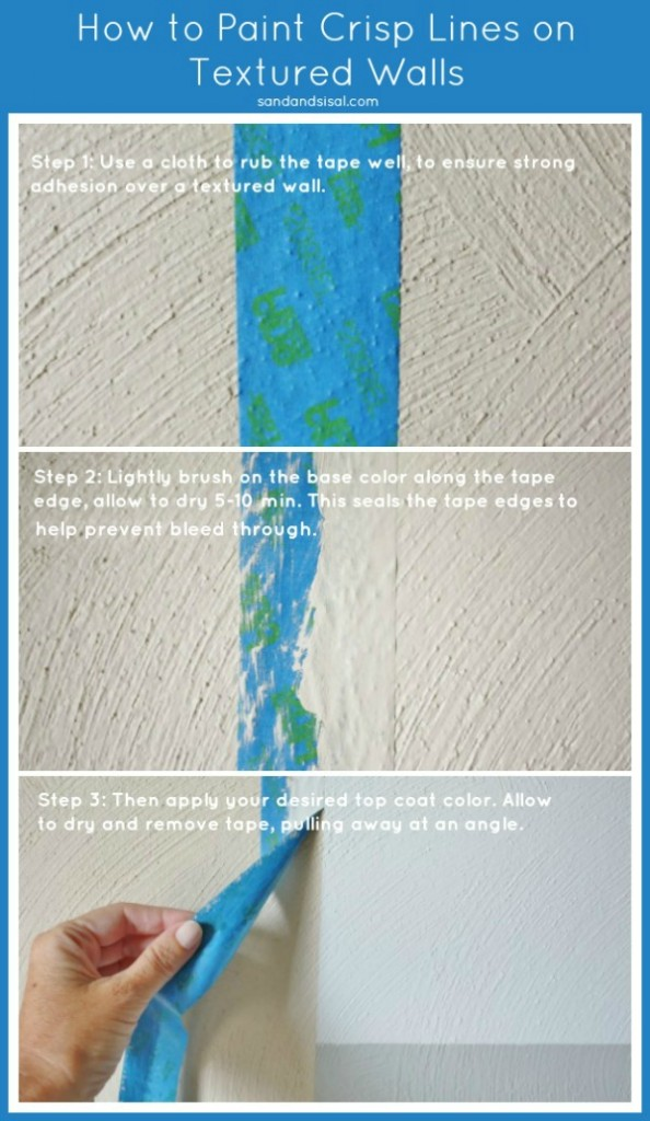How to Paint Crisp Lines on Textured Walls #HomeofScotchBlue #3MPartner