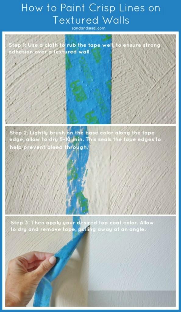 How to Paint Crisp Lines on Textured Walls #HomeofScotchBlue #3MPartner