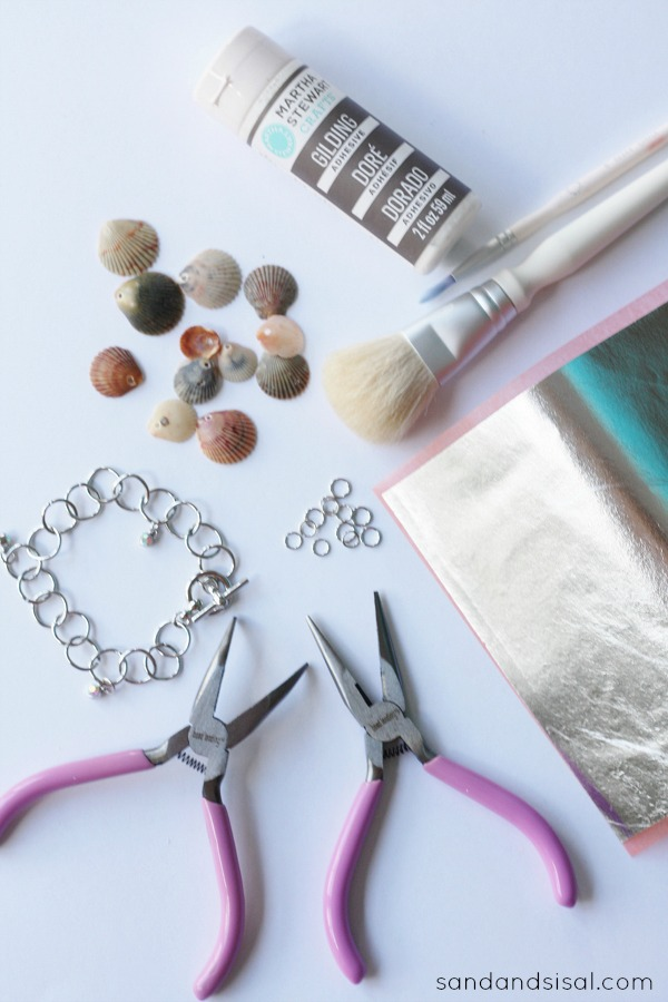 How to gild seashells and make silver shell bracelet