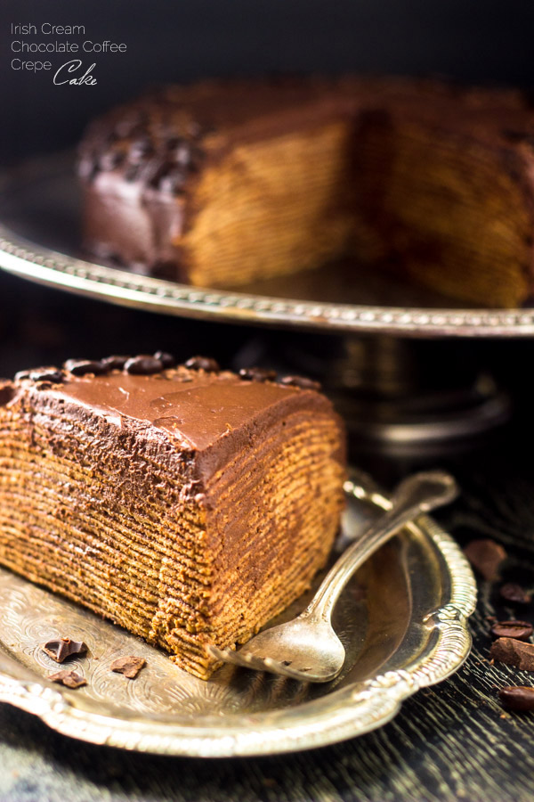 Irish Cream Chocolate Coffee Crepe Cake