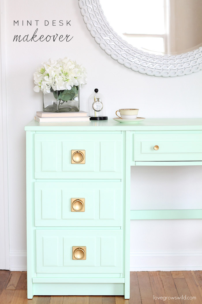 Mint-Desk-Makeover