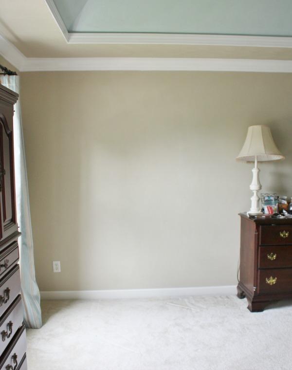 Plain wall before