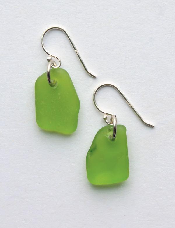 Sea Glass Jewelry earring drilled