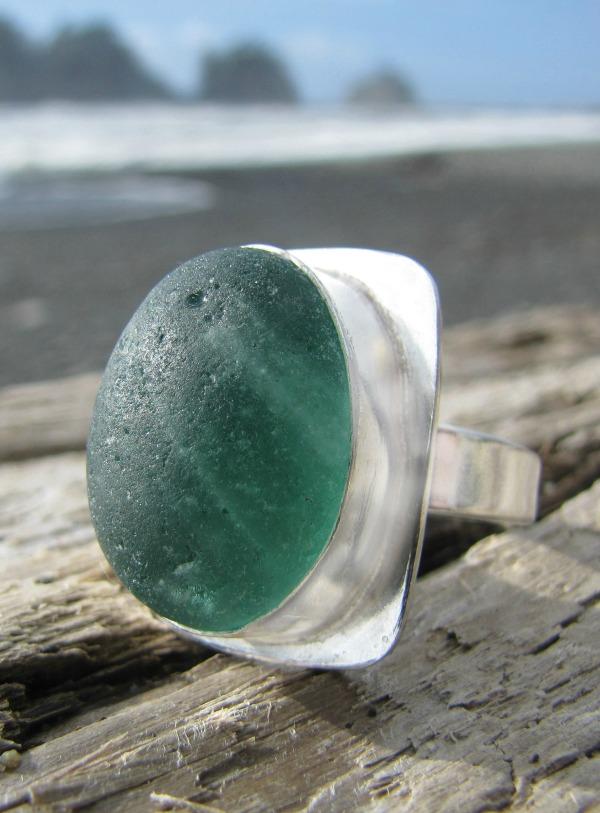 Sea Glass Jewelry ring