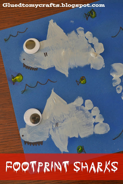 Shark Foot Print Craft for Kids