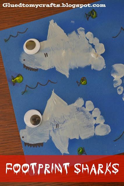 Shark Foot Print Craft for Kids