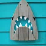 Recycled Wood Shark Art