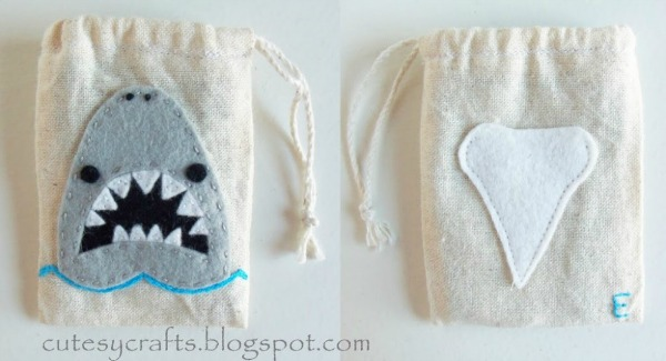 Shark Tooth Fairy Bags
