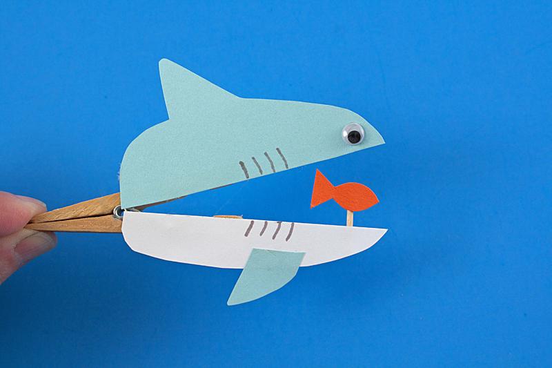 clothespin-shark