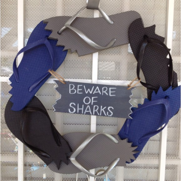 flip-flop-shark-bitten-wreath