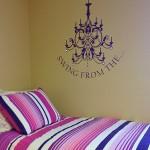 Dorm Room Decor- Chandelier Decal