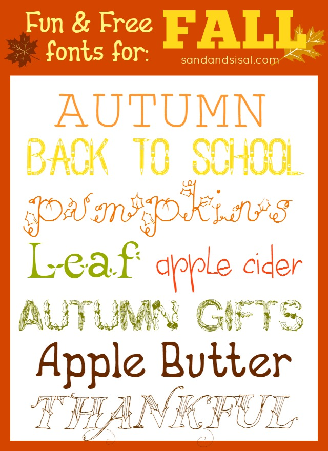 Fun Free Fonts For Fall Sand And Sisal
