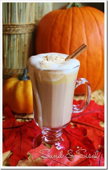 Pumpkin Latte with Spiced Pumpkin Whipped Cream