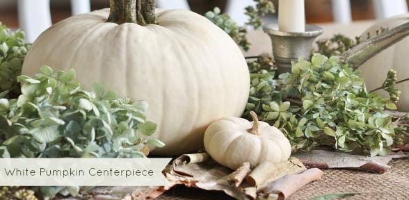 White Pumpkin Centerpiece slide