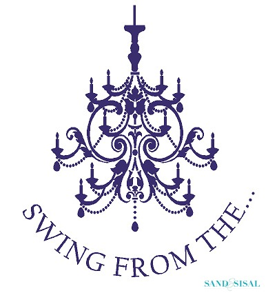 Swing from the chandelier sand and sisal leen the graphics queen swing from the chandelier custom wall decal aloadofball Gallery
