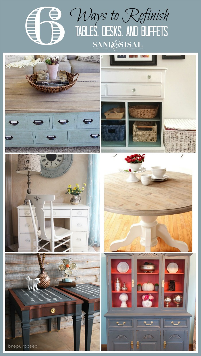 6 Ways To Refinish Tables Desks Buffets
