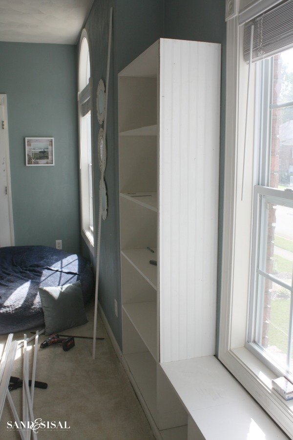 Built-ins with beadboard