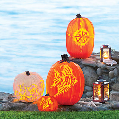 Carved Coastal Pumpkins