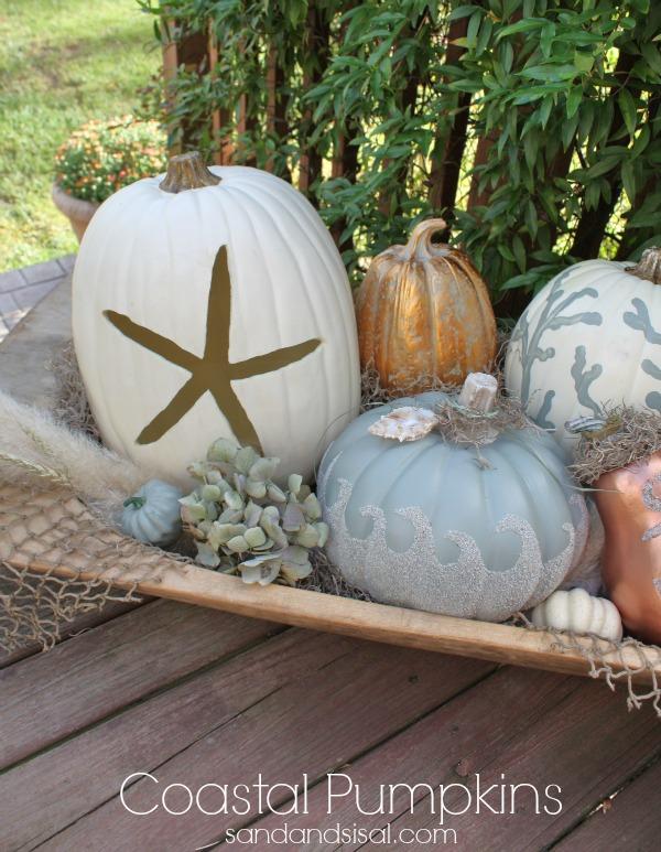 Coastal pumpkin ideas sand and sisal for Sisal decoration