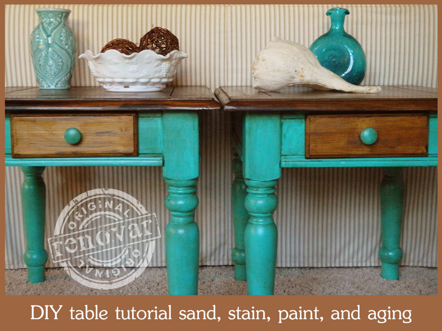 Antique Painted Furniture With Stain