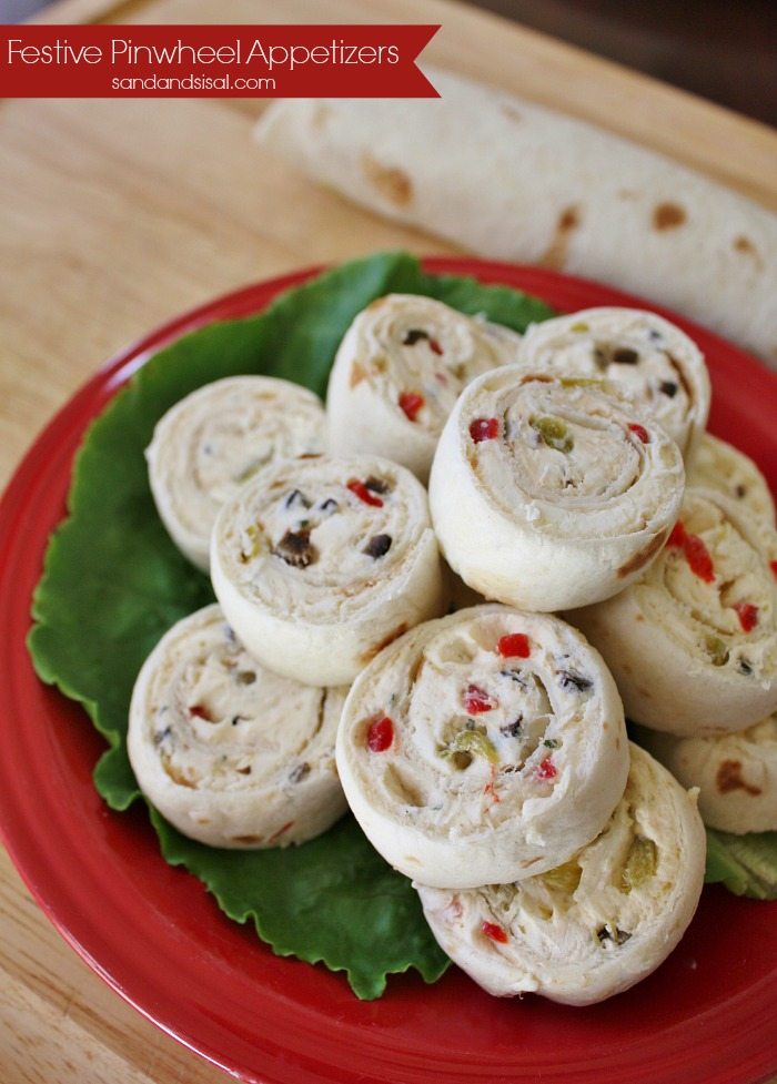 Festive Pinwheel Appetizers - Sand and Sisal