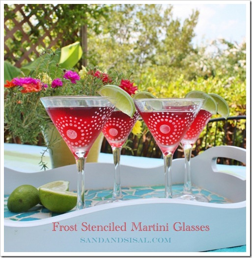 rost Stenciled Martini Glasses