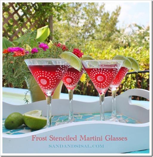 rost Stenciled Martini Glasses