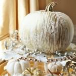 Gilded Faux Bois Pumpkin
