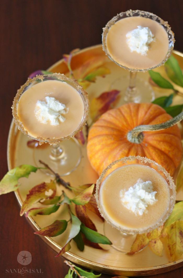Thanksgiving Cocktails - Pumpkin Pie Martinis
