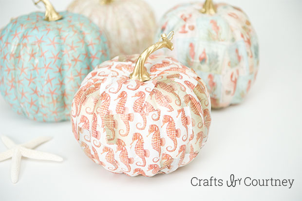 Mod Podge Coastal Pumpkins